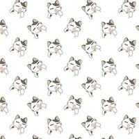 tecknad gäspningar katter mönster. vektor