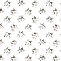Cartoon-Katzen mit erhobenen Armen Muster vektor