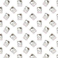 Cartoon schlafende Katzen Muster vektor