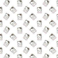 tecknad sovande kattmönster vektor