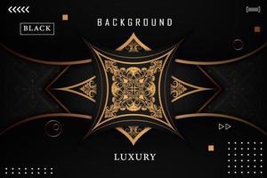 Luxus Gold Zierhintergrund vektor