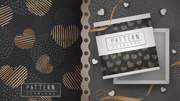 guld hjärta texturerat sömlösa mönster