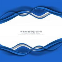 stilvolle blaue Wellenrahmenkarte