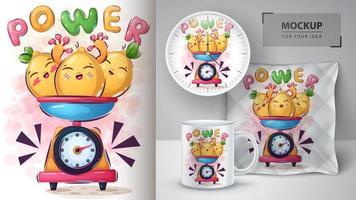 Cartoon Zitronen im Maßstab Design