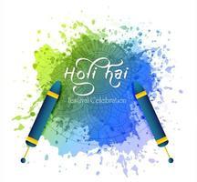 glad holi indisk vårfest med färger gratulationskort