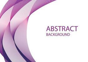 Werbebanner mit lila abstrakten Formen