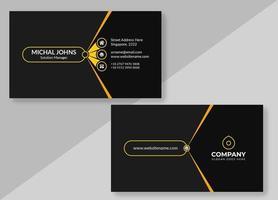 schwarze Visitenkarte mit gelben Details