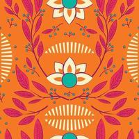 nahtloses Muster mit handgezeichneten floralen Elementen vektor
