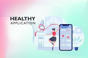 hälsosam ansökan om träning