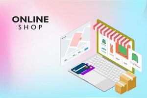 Online-Shopping auf der Website oder in einer mobilen Anwendung