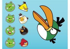 Arg fåglar vektorer