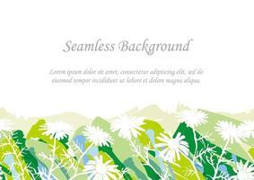 sömlös grön botanisk bakgrund med textutrymme
