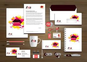 Vorlage Corporate Business Identity Design Vektor