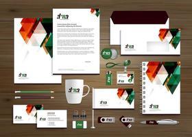 orange und grüne Geschäftsvorlage