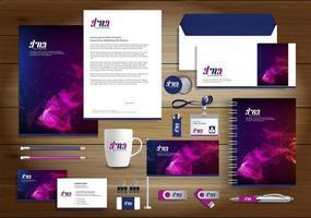 geometrische Identität mit Farbverlauf und Werbeartikel