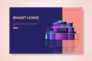 smarta hem-målsida vektor