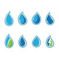 Wassertropfen-Symbolsatz mit Umriss