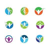 Wellness-Symbole in Kreisen vektor