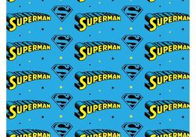 Superman Mönster vektor