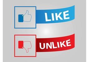 Facebook-Schaltflächen vektor