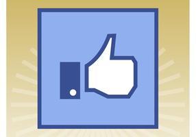 Facebook liknande ikon vektor