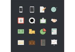 16 Geschäfts- und Kommunikationssymbol-Vektoren