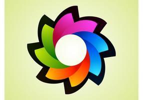 Regenbogen-Blumen-Logo vektor