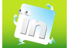 LinkedIn-Symbol vektor