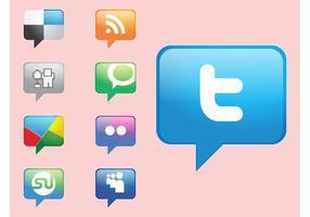 Sociala medier Ikoner Vektorer