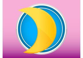 Mond-Logo vektor
