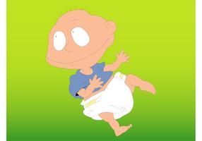 Baby-Karikatur vektor