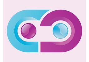 Gekrümmtes Logo