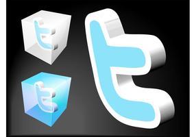 Twitter ikoner vektor