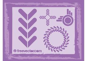 Abstrakta logotypikoner vektor
