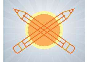 Bleistifte Logo vektor