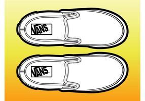 Paar Schuhe vektor
