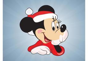 Weihnachten Minnie Maus vektor