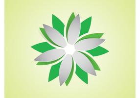 Vektor-Blumen-Logo vektor