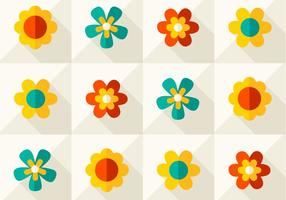 Modernes Blumenvektormuster