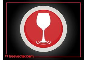 Weinglas-Logo vektor