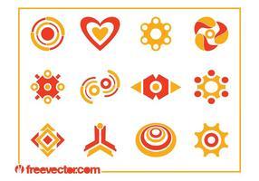 Abstrakta logotypmallar vektor