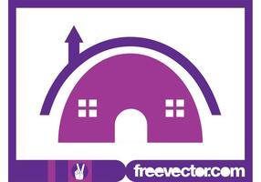 Haus Logo Vorlage vektor