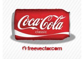 Coca-cola classic kan vektor