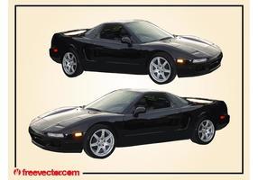 Schwarzes Acura Auto vektor