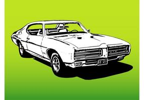 Retro-Auto-Grafiken