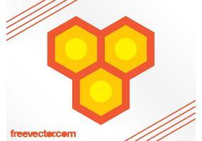 Bienenwabe-Logo-Vektor