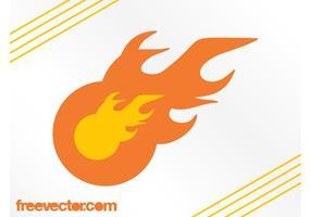 Flammen-Logo-Vorlage vektor