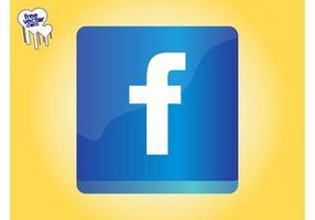 Facebook ikon grafik vektor