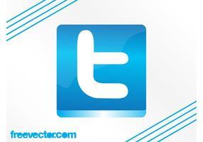 Twitter-Schaltflächengrafik vektor