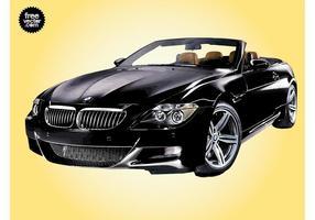 Schwarzer BMW vektor